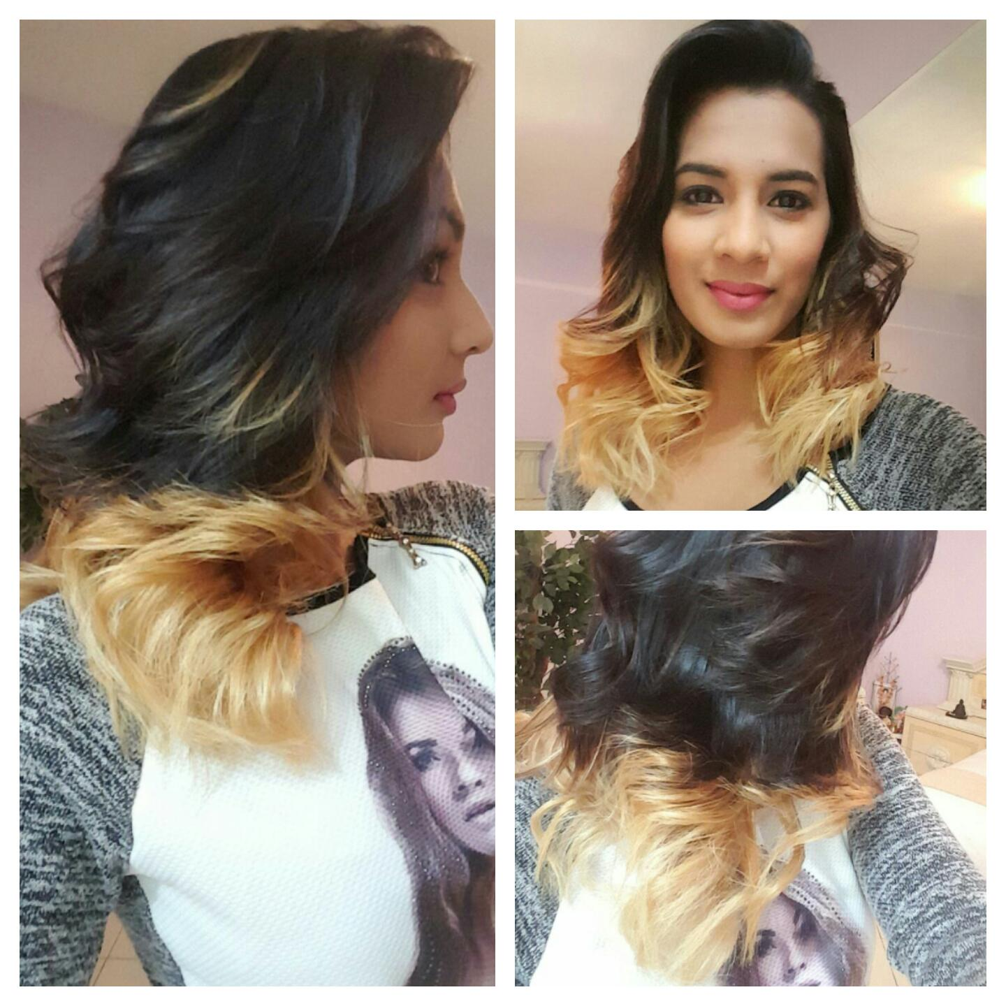 ombre hair colour by professional stylist Nivi Deenanath at salon cleo phoenix branch 0315002353