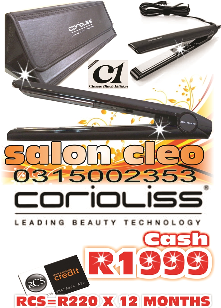 COROILLISS HAIR IRON STOCKISTS-FOR THE CHEAPEST DEAL IN DURBAN @SALON CLEO 0315002353...CHEAPEST DEAL IN GHD HAIR IRONS & CHEAPEST DEAL IN CLOUD 9 HAIR IRON STRAIGHTENERS