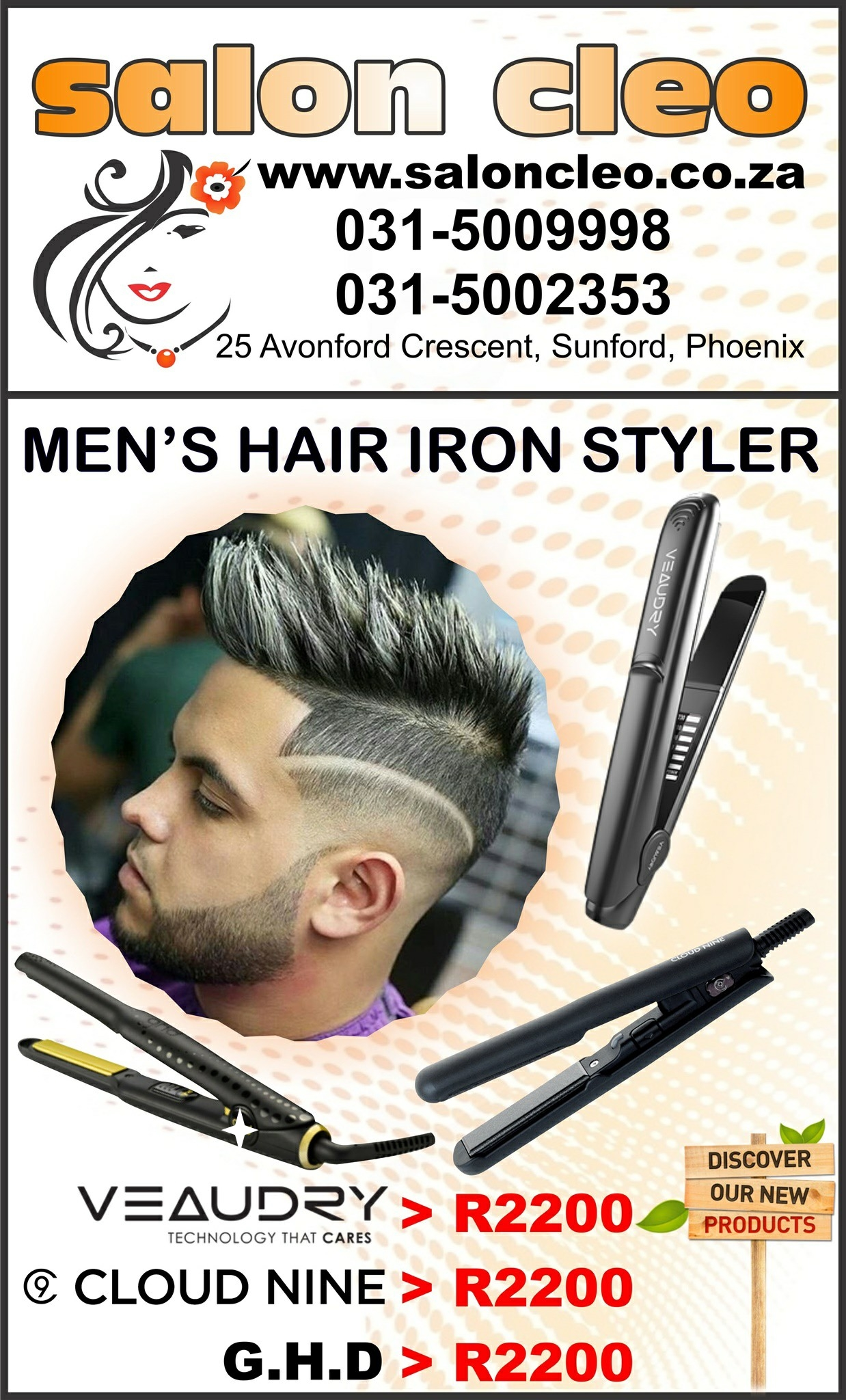 gents hair irons mens stylers now available at salon cleo 0315009998