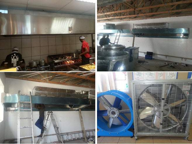 kitchen extractor canopy