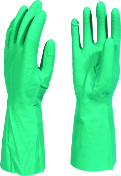 green-nitrile-glove