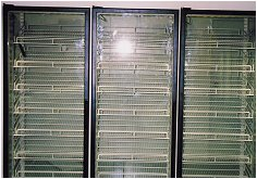 Cold Room Glass Door Display & Shelving