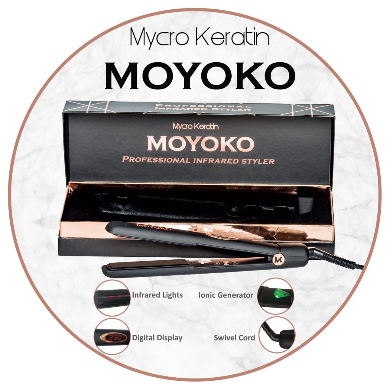 THICK PLATE MOYOKO INFARED HAIR IRON THIN PLATE MOYOKO HAIR IRON STYLER MOYOKO FLAT HAIR IRON STYLER MOYOKA INFARED MICRO KERATIN  HAIR IRON STRAIGHTENER AVAILABLE AT SALON CLEO 0315002353 MOYOKO CHEAPEST DEAL IN DURAN SALON CLEO 0315009998