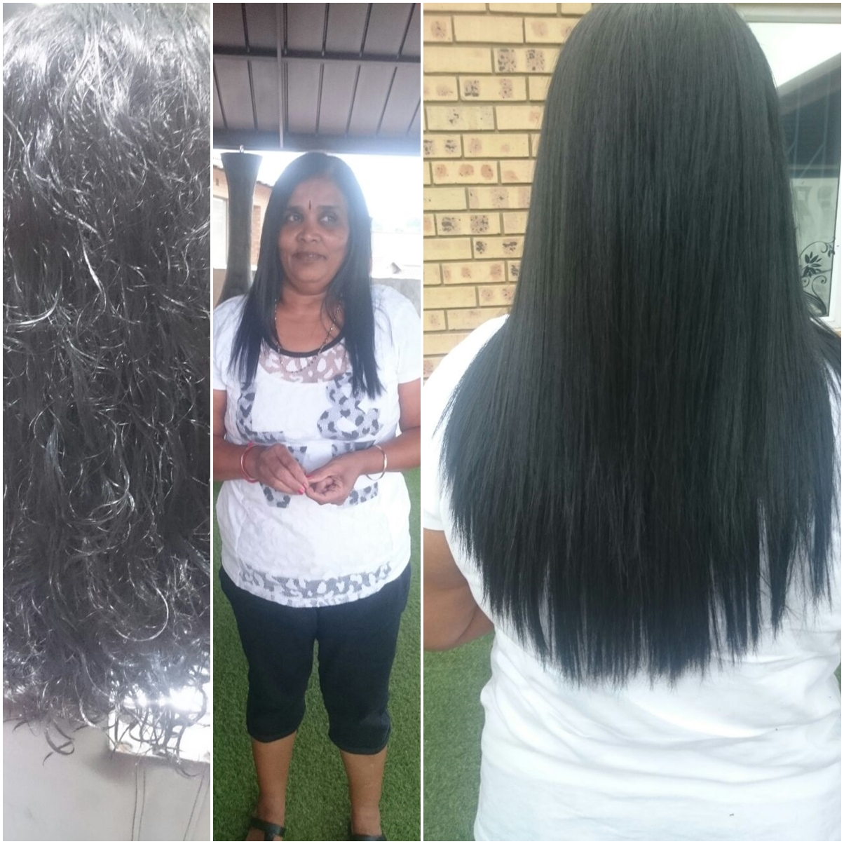 permanant hair straightening treatment done at exclusively saloncleo durban phoenix 0315002353
