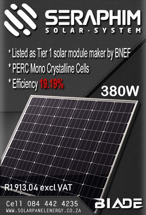 380W Seraphim Solar Panel, PERC cells