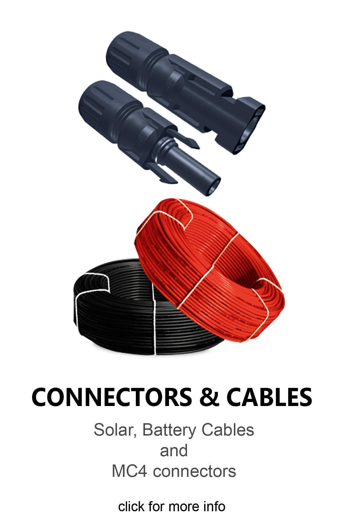 mc4 connectors, solar wire, battery cables Cape Town