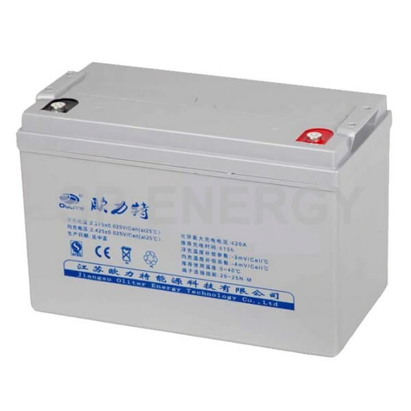 Oliter 12V 100Ah Gel Battery is 100% sealed with no maintenance and capable of very deep discharges.
