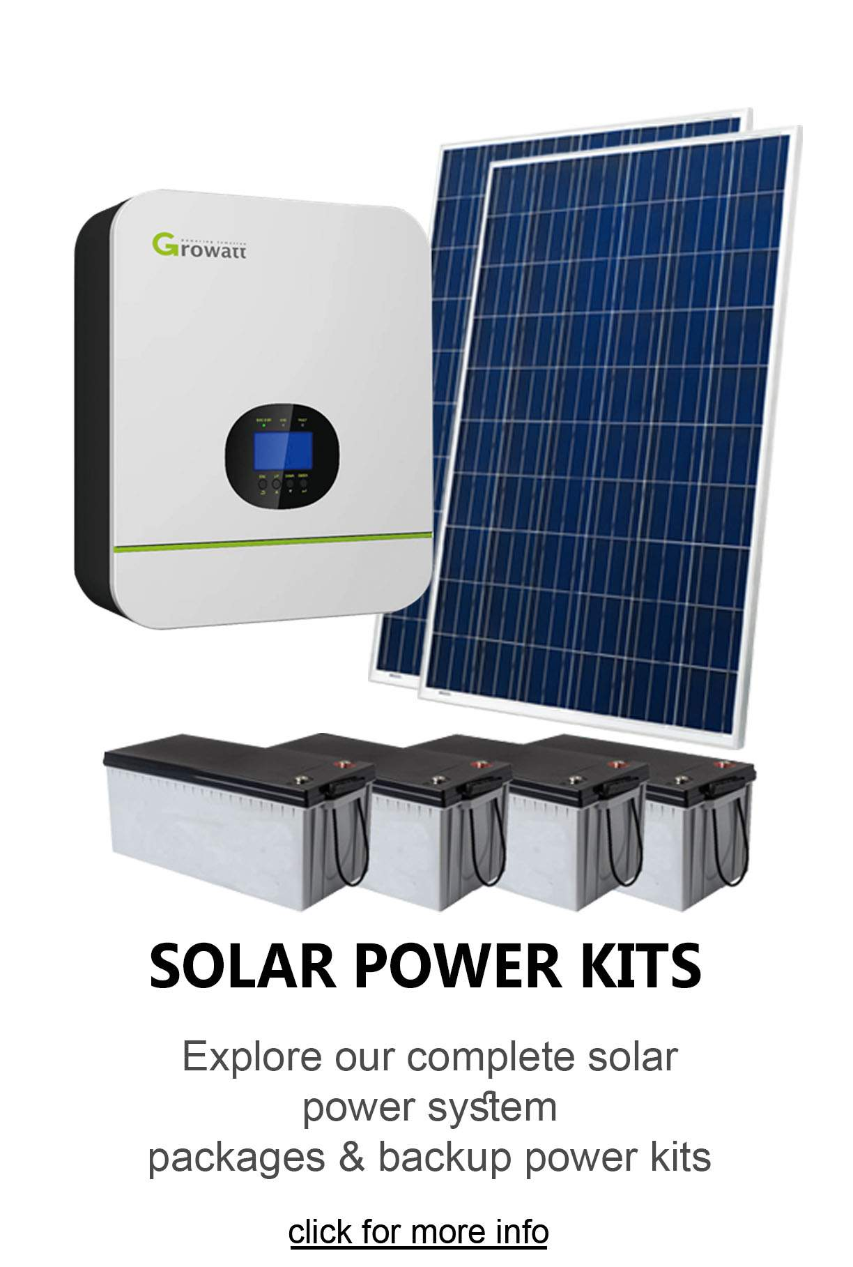 complete solar power kits for homes in Pretoria south africa or diy solar system for sale in Pretoria south africa.